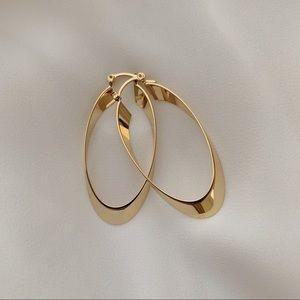 Prince Oval Hoops | 18k Gold Filled